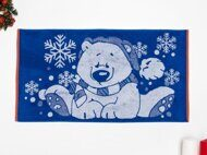 "Полотенце махровое ""New year bear"" 50x90 цв.синий"