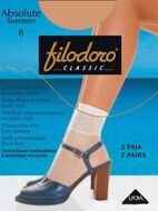 Носки Filodoro Classic ABSOLUTE SUMMER 8 den (2 пары)